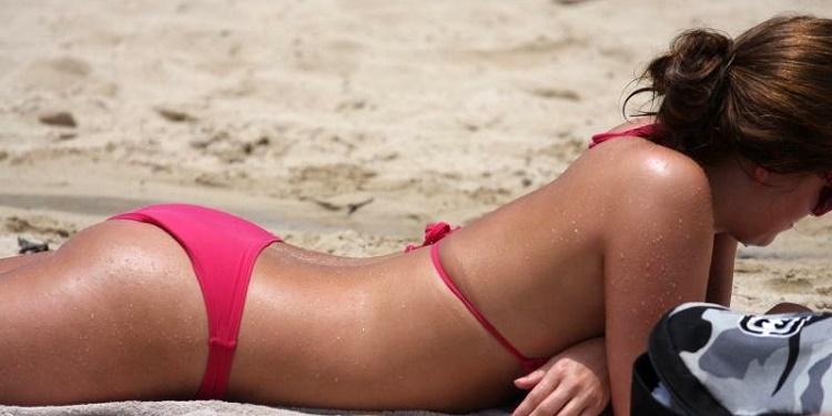 Woman in Red Bikini