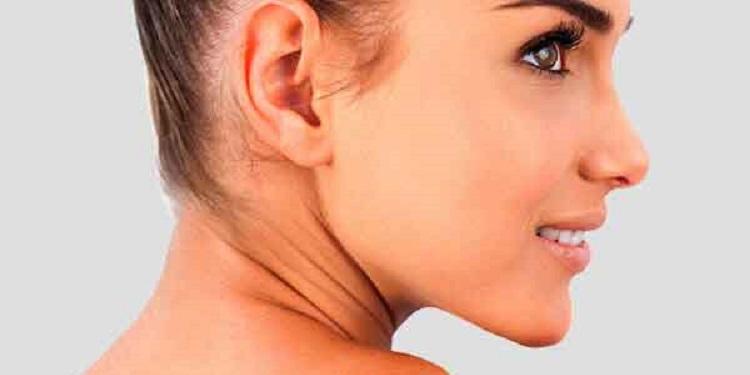 Profile of Beautiful Woman's Nose
