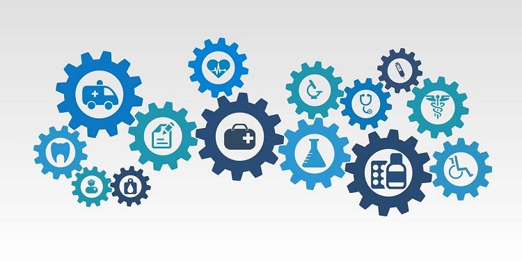 Health Insurance Gears Illustration